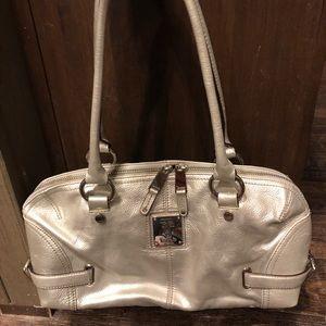 Tignanello leather satchel w/accessories
